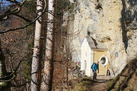 Gmailkapelle vom Wanderparkplatz Rummlerhof