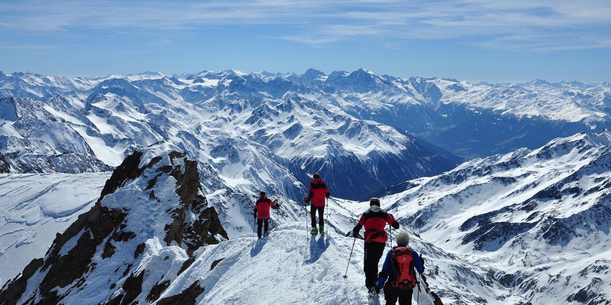Am Gipfelgrat zur Weißkugel