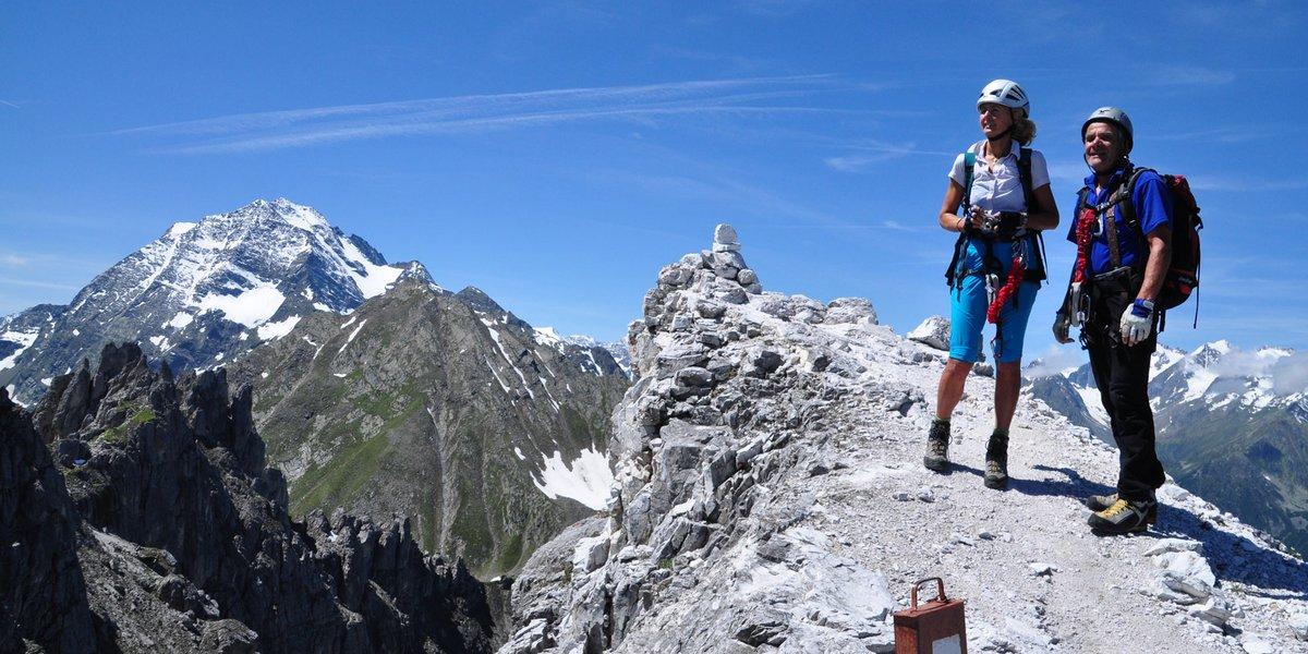 Klettersteig-Begehung am Elfer
