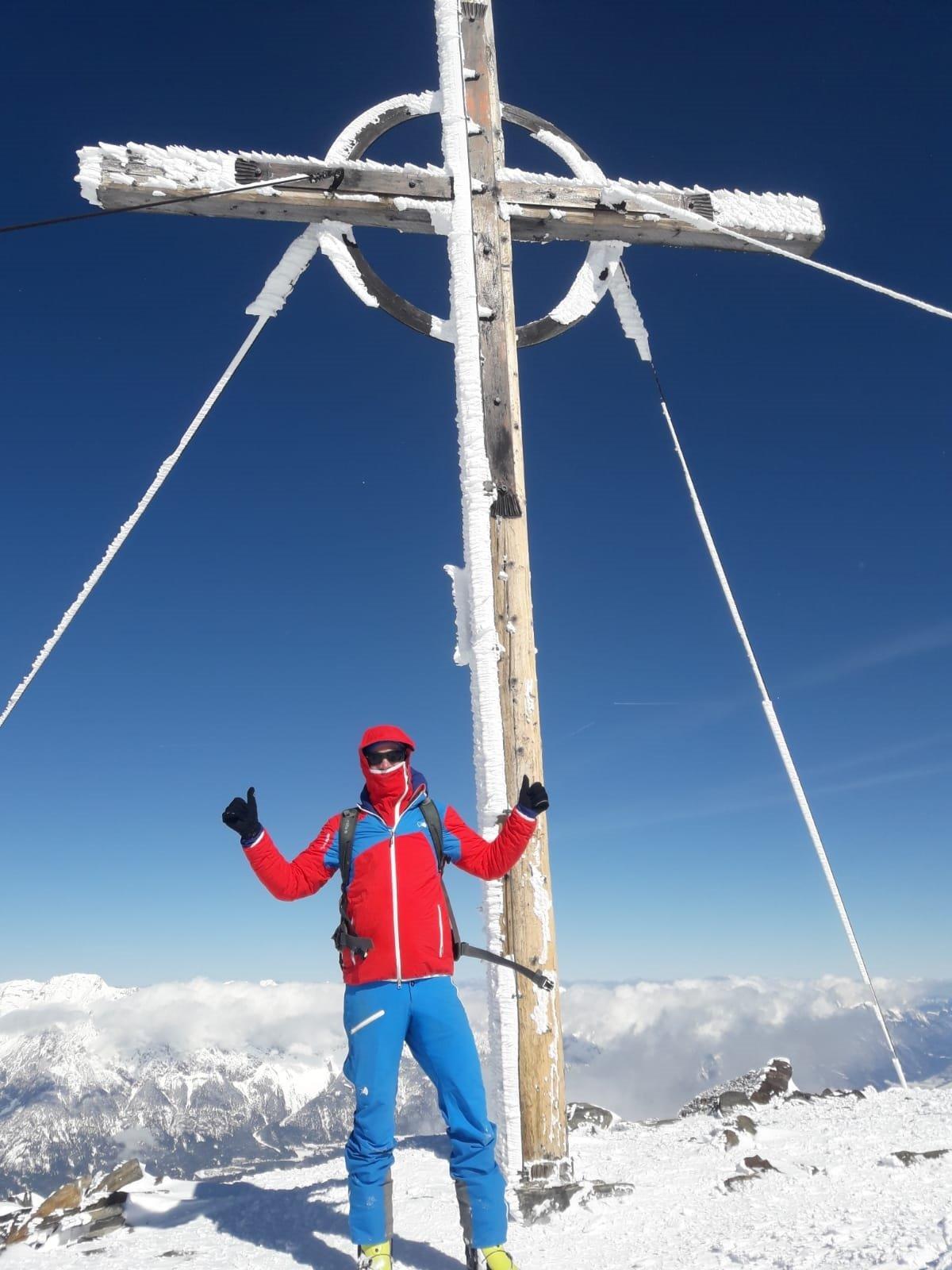 Kombination bei Gipfelwind im Winter: Jamspitz & Pareispitz