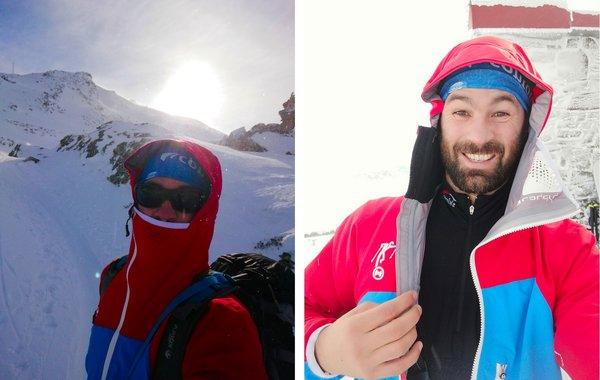 Hyphensports Jamspitz-Jacke warm für Aufstieg bei extremer Kälte