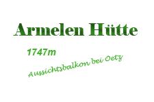 Logo Armelen Hütte, 1747m  - Oetz