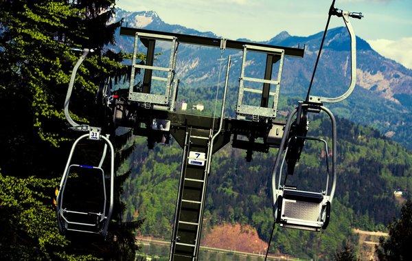 nostalgischer und restaurierter Einer-Sessel-Lift