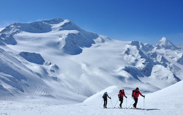 Aufstieg auf die Köllkuppe (Cima Marmotta)