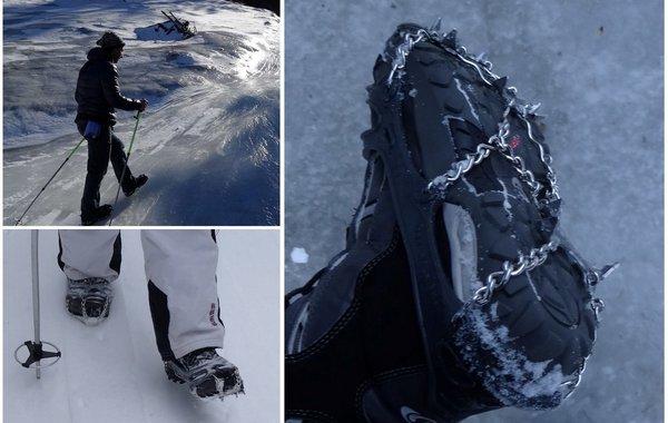 Gebrauch der Snowline Spikes Chainsen Pro in der Praxis