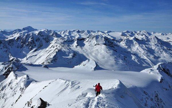 Abstieg vom Similaun-Gipfel