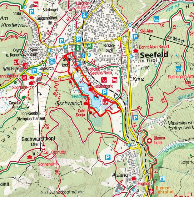 Wildsee & Pfarrhügel Rundwanderung in Seefeld