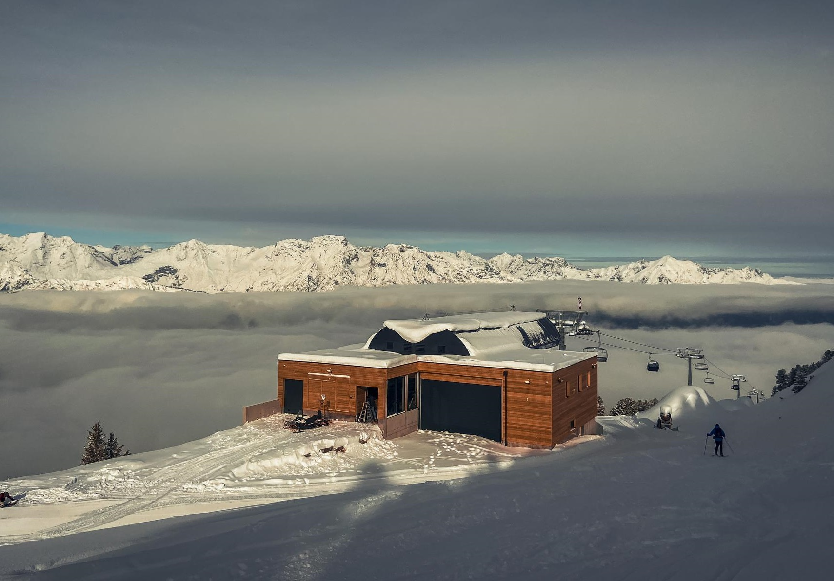 Moderne Gondel Tuxer Alpen Skitouren