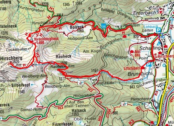 Hirschberg (1688 m) von Scharling