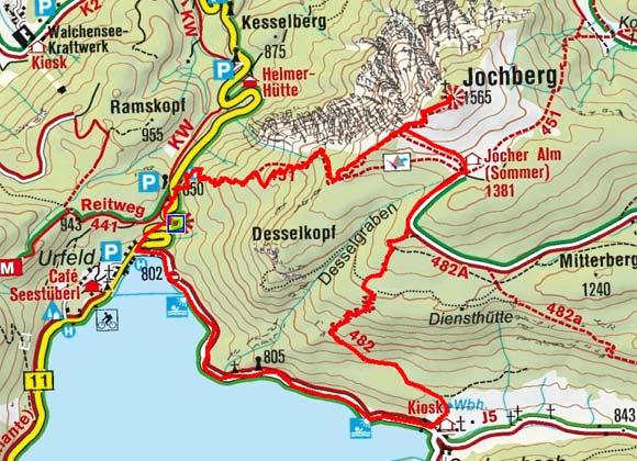 Jochberg (1569 m) von der Kesselberghöhe