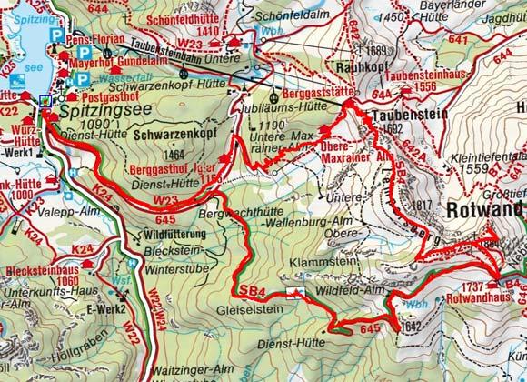 Rotwand (1884 m) vom Spitzingsee