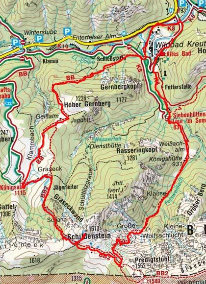 Schildenstein (1613 m) vom Wildbad Kreuth