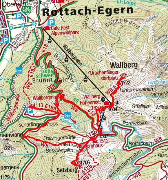 Wallberg-Setzberg (1722/1706 m) von der Wallbergmoosalm