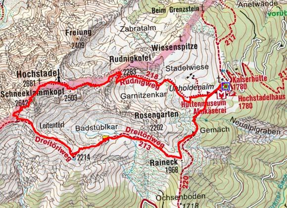 Hochstadel (2681 m) von der Kalserhütte