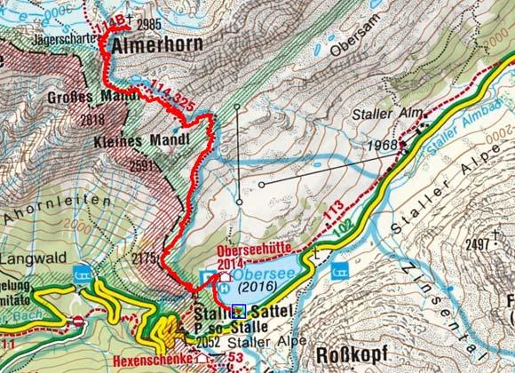 Almerhorn (2985m) vom Staller Sattel