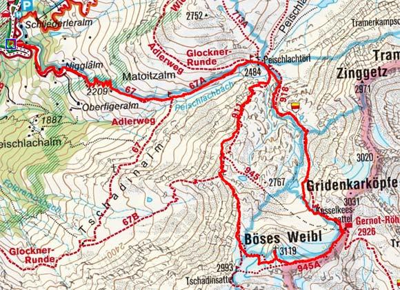 Böses Weibl (3119 m) vom Lucknerhaus