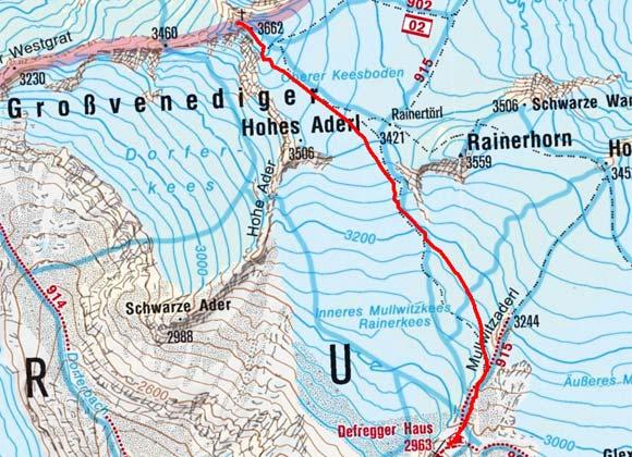 Großvenediger (3666 m) vom Defreggerhaus