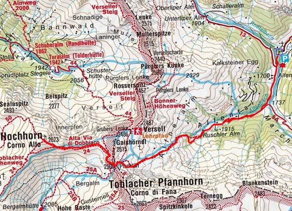 Hochhorn (2623 m) von Kalkstein