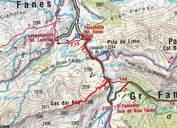Limospitze (2562 m) von der Faneshuette