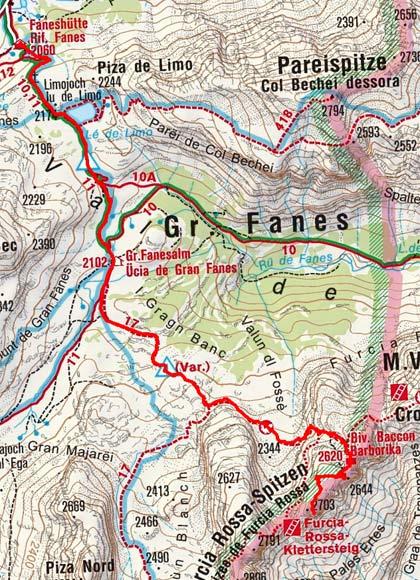 Biwak Furcia Rossa-Furcia Rossa II (2644/2703 m) von der Faneshütte