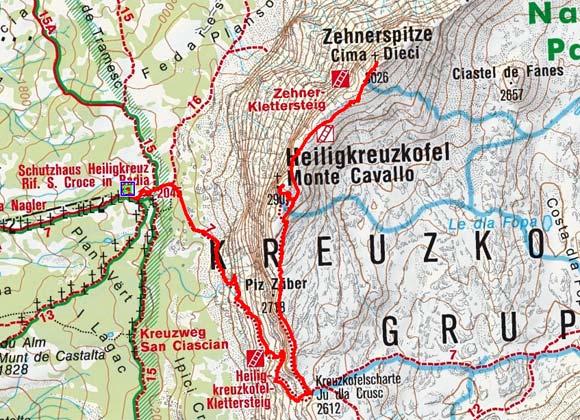 Heiligkreuzkofel-Zehnerspitze (2907/3026 m) aus dem Gadertal