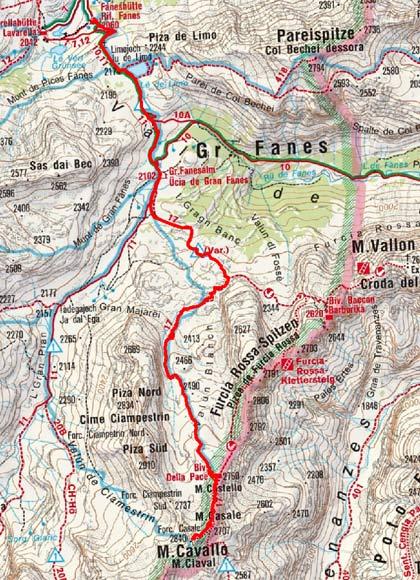 M. Cavallo - M. Casale (2840/2707 m) von der Faneshütte
