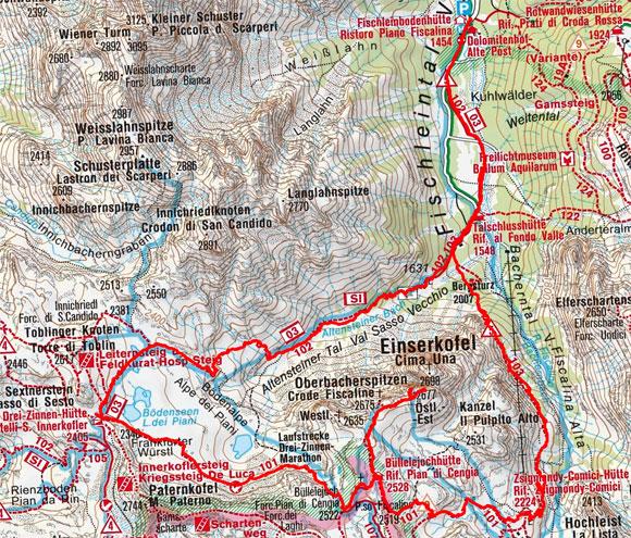 Einserkofel-Umrundung mit Oberbachernspitze