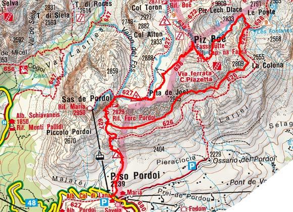 Piz Boe (3152 m) vom Passo Pordoi