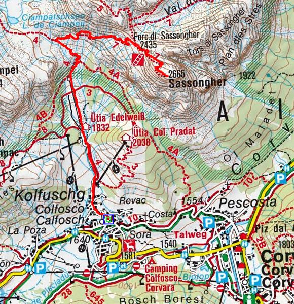 Sassonger (2665 m) von Kolfuschg