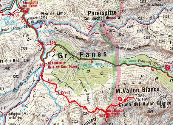 Vallon Bianco (2684 m) von der Faneshütte