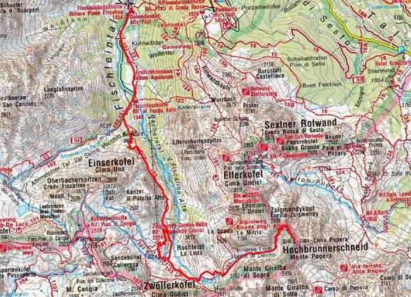 Hochbrunner Schneid (3046 m) von der Fischleinbodenhütte
