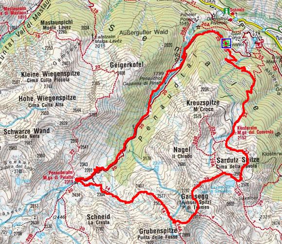 Gamsegg (2912 m) von Karthaus