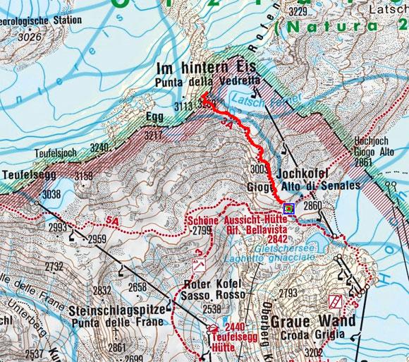 Hintereis Spitze (3269 m) von der Schönen Aussicht