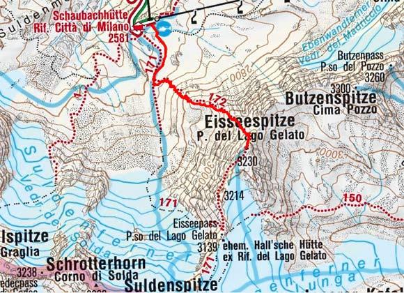 Eisseespitze (3230 m) von der Schaubachhütte