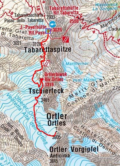 Ortler (3905 m) von der Payerhütte