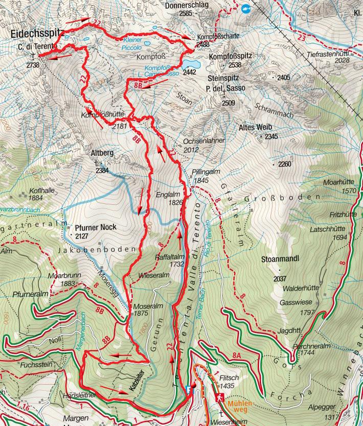 Eidechsspitze (2738m) von Terenten