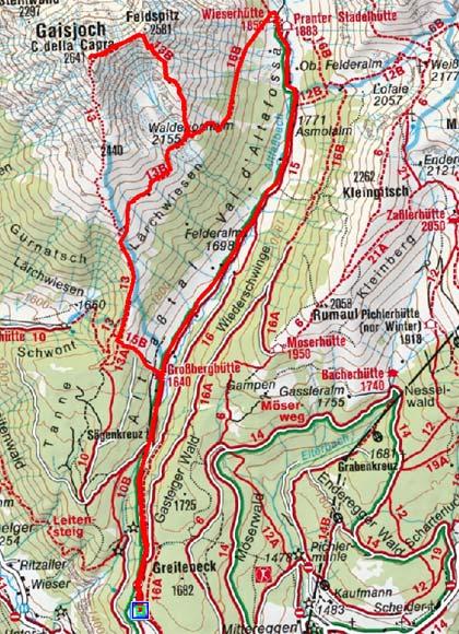 Gaisjoch (2641 m) aus dem Altfaßtal