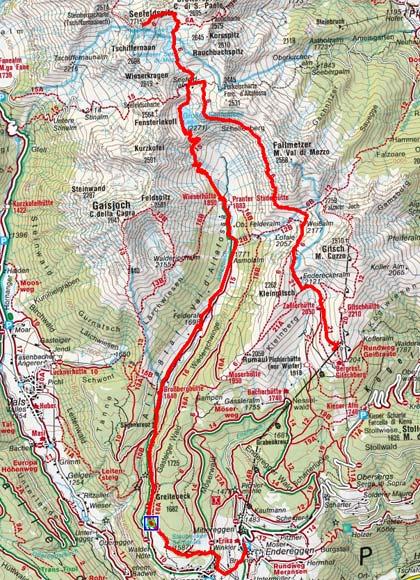 Seefeldspitz (2715 m) von der Bergbahn Gitschberg