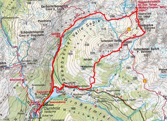 Jakobsspitze (2742 m) von Durnholz