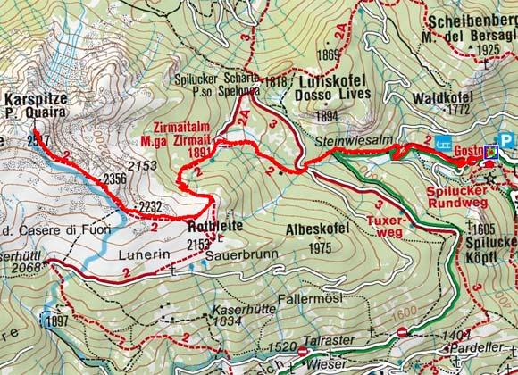Karspitze (2517 m) von Spiluck