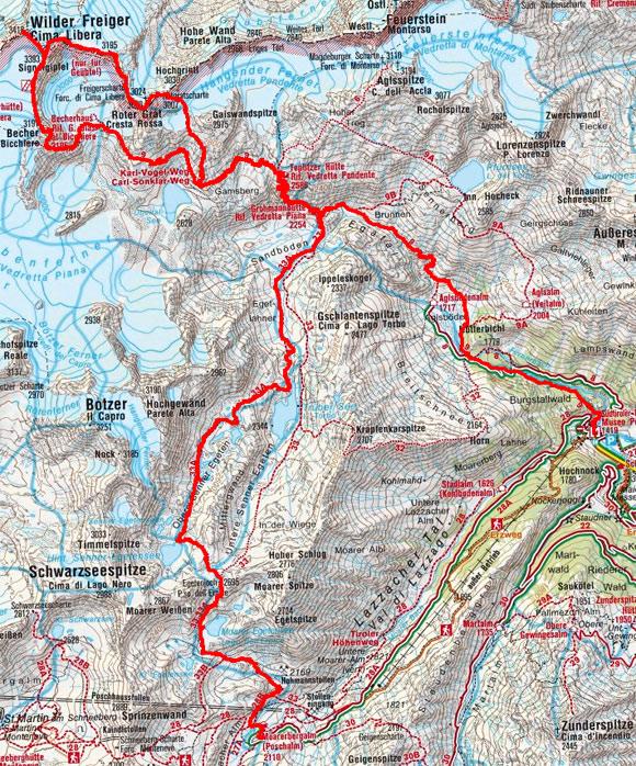 Becherhaus - Wilder Freiger mit Roter Grat Überschreitung (2-Tagestour)
