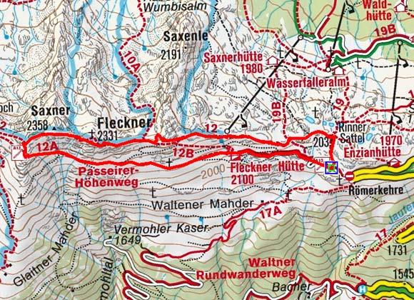 Fastnachter-Fleckner (2268/2331 m) vom Jaufenpass
