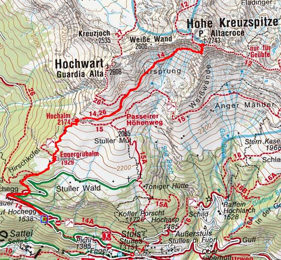 Hohe Kreuzspitze (2743 m) von Stuls