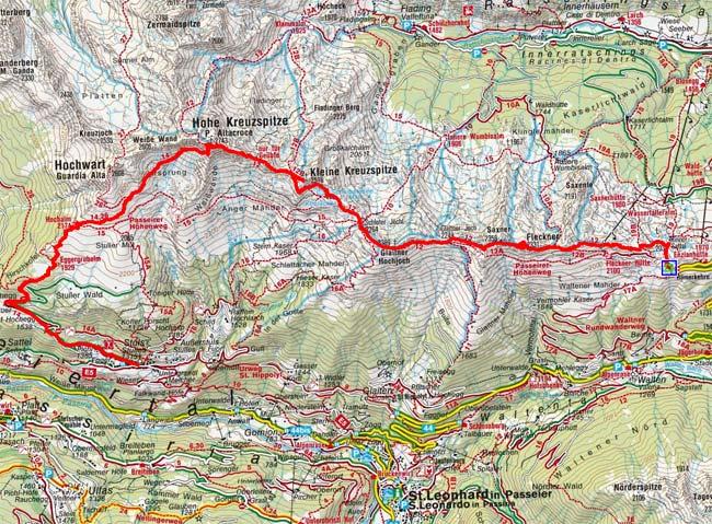 Passeirer Höhenweg über die Hohe Kreuzspitze
