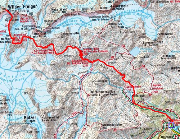 Becher und Wilder Freiger (3418 m) von Maiern