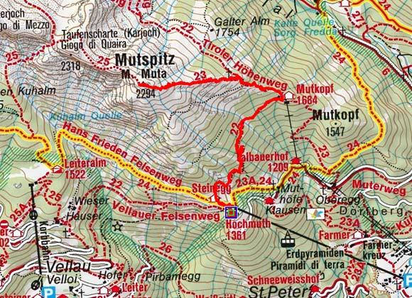 Mutspitz (2294 m) von der Hochmuthbahn