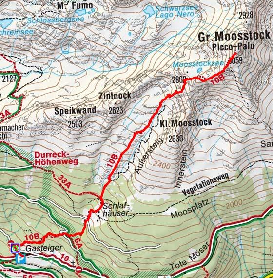 Großer Moosstock (3059 m) von Ahornach
