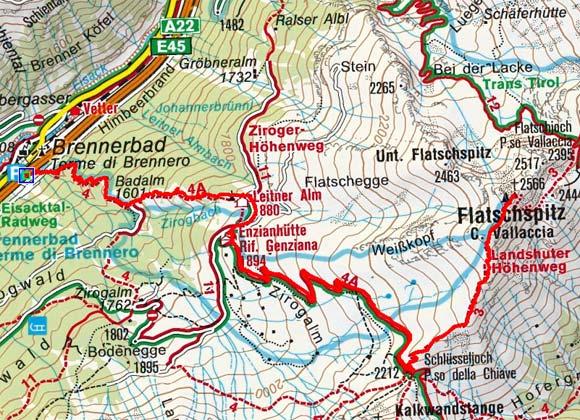 Flatschspitze (2566 m) vom Brennerbad