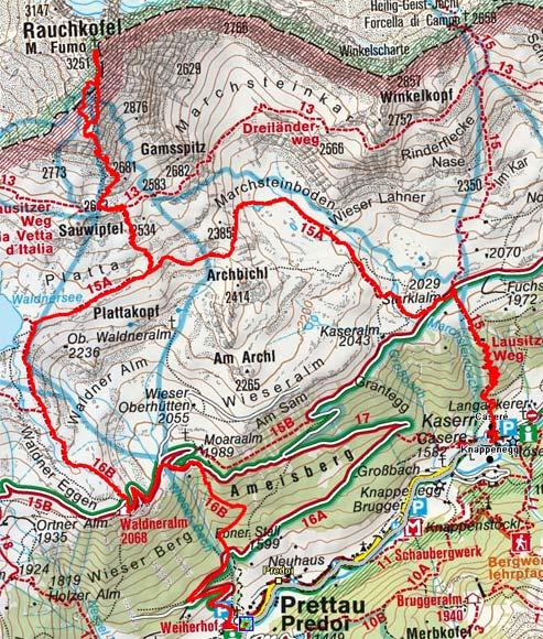 Rauchkofel (3252 m) von Prettau