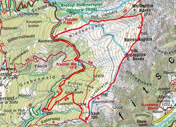 Saun-Weißspitze (2085/2714 m) vom Braunhof